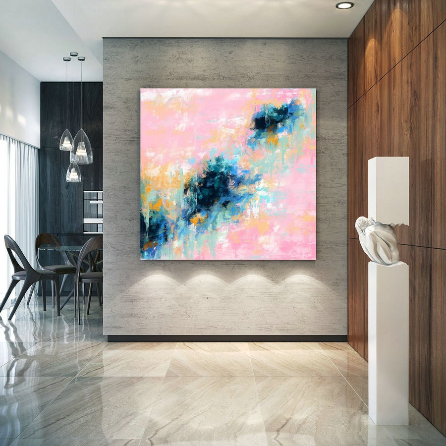 Extra Large Wall Art Palette Knife Artwork Original Painting,Painting on Canvas Modern Wall Decor Contemporary Art, Abstract Painting Pdc069