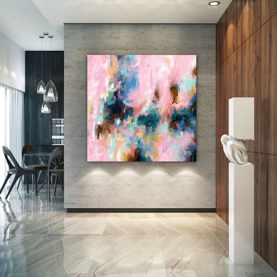 Extra Large Wall Art Palette Knife Artwork Original Painting,Painting on Canvas Modern Wall Decor Contemporary Art, Abstract Painting Pdc083