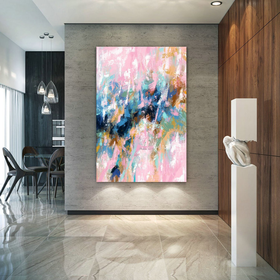 Extra Large Wall Art Palette Knife Artwork Original Painting,Painting on Canvas Modern Wall Decor Contemporary Art, Abstract Painting Pdc079