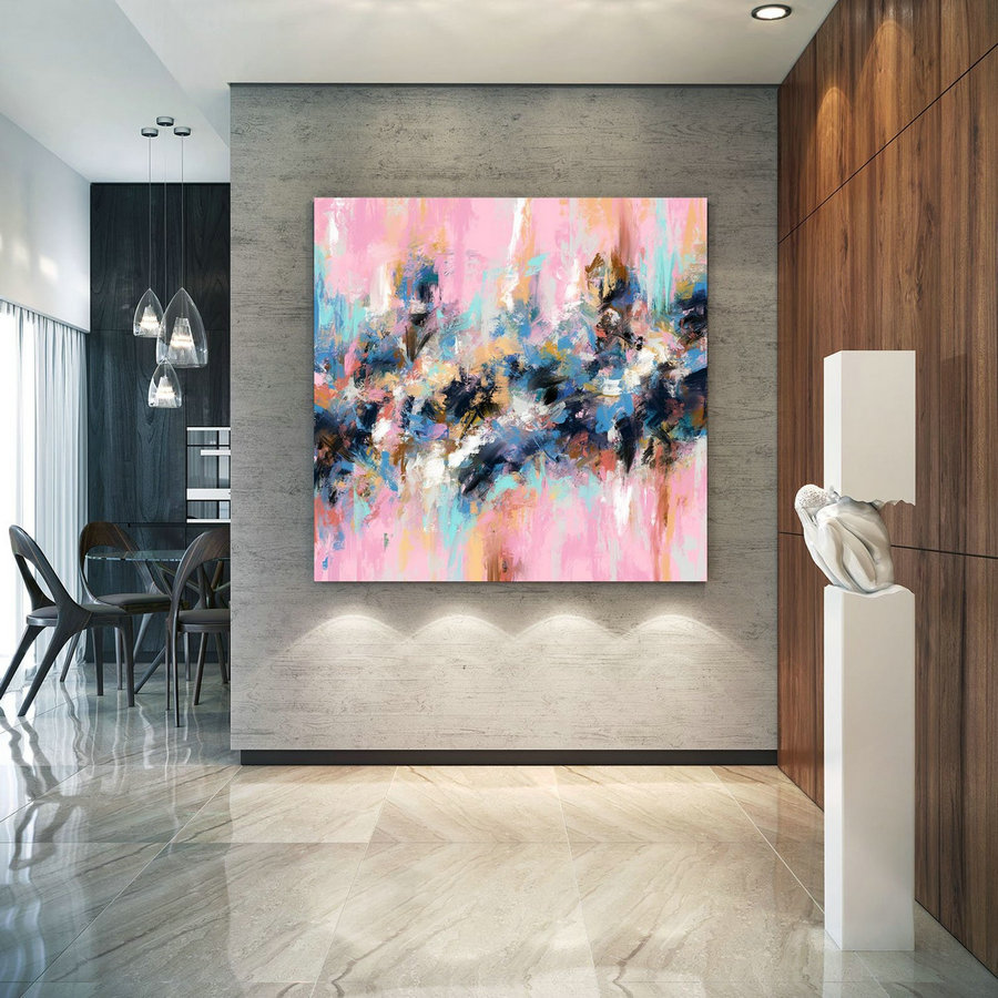 Extra Large Wall Art Palette Knife Artwork Original Painting,Painting on Canvas Modern Wall Decor Contemporary Art, Abstract Painting Pdc081