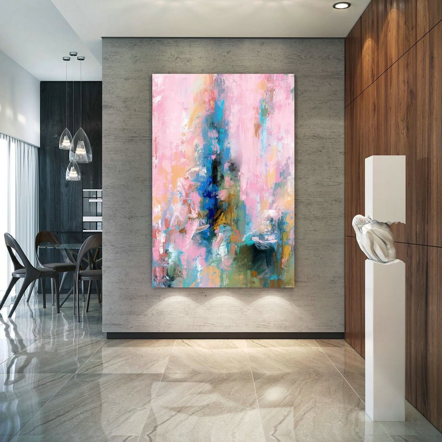 Extra Large Wall Art Palette Knife Artwork Original Painting,Painting on Canvas Modern Wall Decor Contemporary Art, Abstract Painting Pdc085