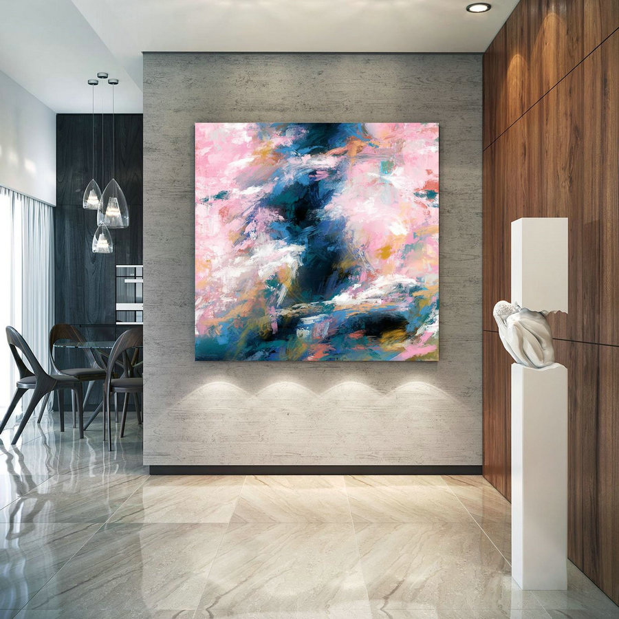 Extra Large Wall Art Palette Knife Artwork Original Painting,Painting on Canvas Modern Wall Decor Contemporary Art, Abstract Painting Pdc086