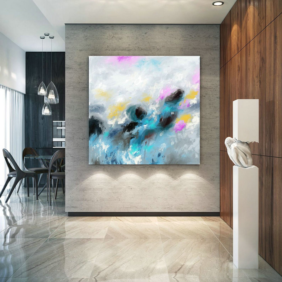 Extra Large Wall Art Palette Knife Artwork Original Painting,Painting on Canvas Modern Wall Decor Contemporary Art, Abstract Painting Pic020