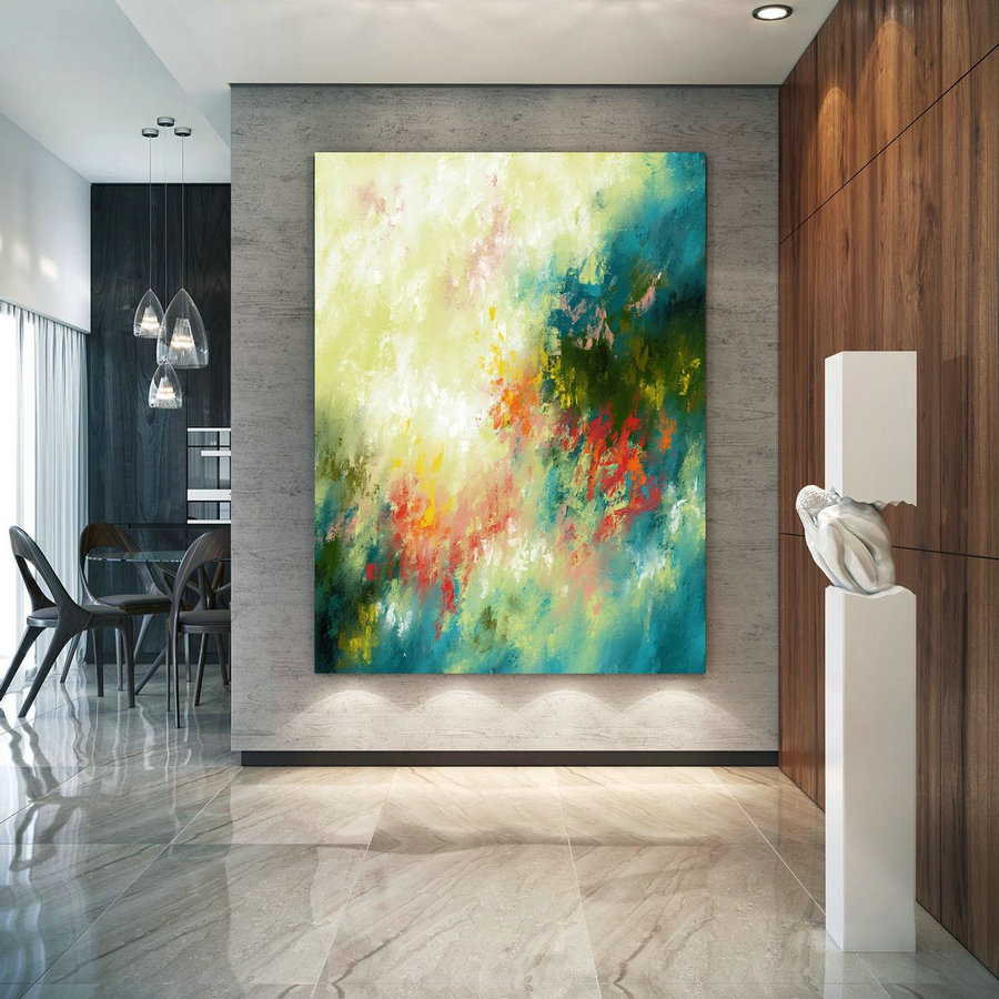 Extra Large Wall Art Palette Knife Artwork Original Painting,Painting on Canvas Modern Wall Decor Contemporary Art, Abstract Painting Pic081