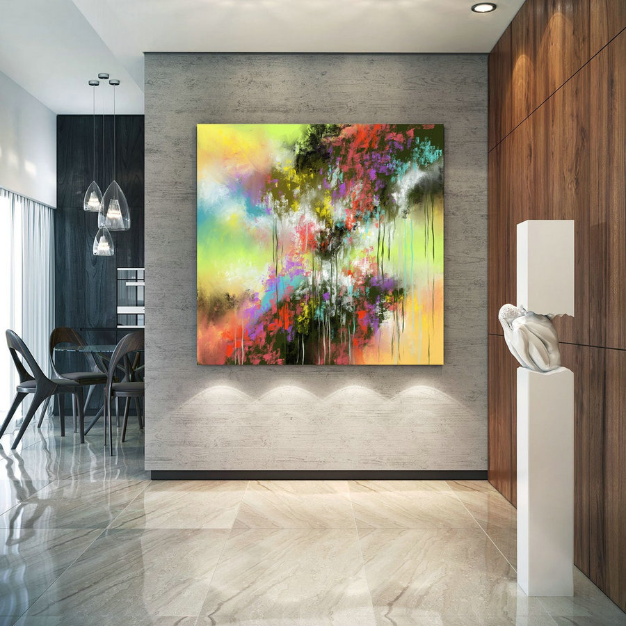 Extra Large Wall Art Palette Knife Artwork Original Painting,Painting on Canvas Modern Wall Decor Contemporary Art, Abstract Painting Pic028