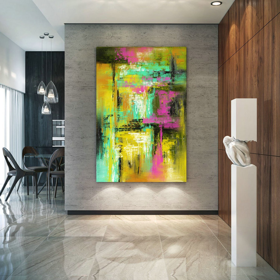 Extra Large Wall Art Palette Knife Artwork Original Painting,Painting on Canvas Modern Wall Decor Contemporary Art, Abstract Painting PiC082