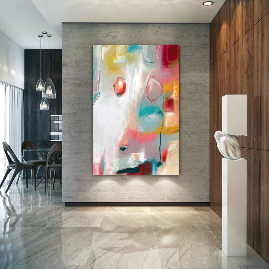 Abstract Canvas Original Paintings Abstract Paintings Wall Art for Luxury Interiors Living room decor Huge Size Art, Office Wall Art Pac155