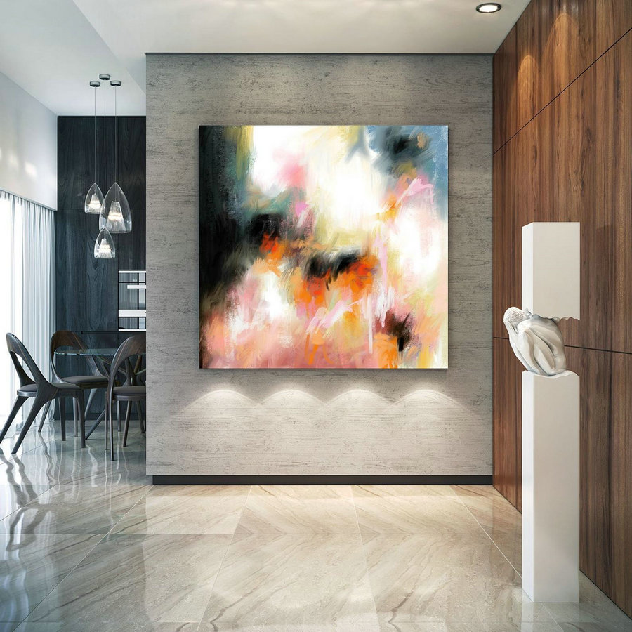 Abstract Canvas Original Paintings Abstract Paintings Wall Art for Luxury Interiors Living room decor Huge Size Art, Office Wall Art Pac179