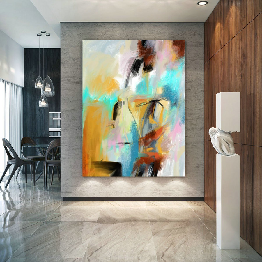 Extra Large Wall Art Original Painting on Canvas Contemporary Wallart Modern Abstract Living Room Wall ArtColorful Abstract Painting PaC184