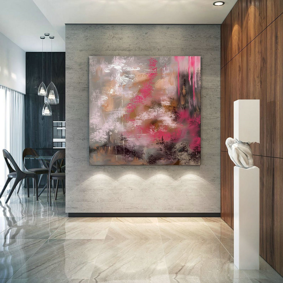 Abstract Canvas Original Paintings Abstract Paintings Wall Art for Luxury Interiors Living room decor Huge Size Art, Office Wall Art PaC141