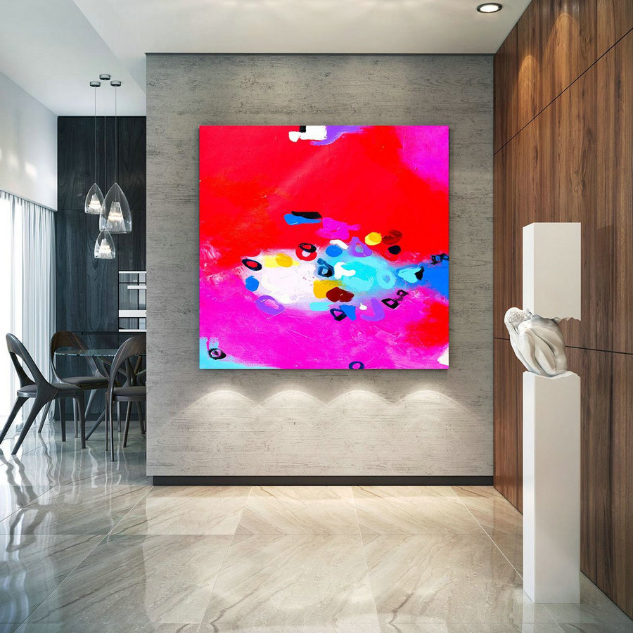Extra Large Wall Art Original Art Bright Abstract Original Painting On Canvas Extra Large Artwork Contemporary Art Modern Home Decor lac656