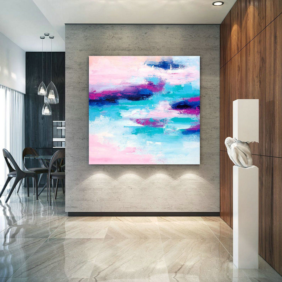 Extra Large Wall Art Original Art Bright Abstract Original Painting On Canvas Extra Large Artwork Contemporary Art Modern Home Decor lac673