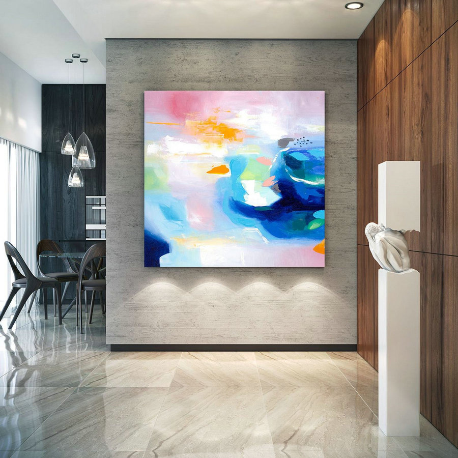 Extra Large Wall Art Original Handpainted Contemporary XL Abstract Painting Horizontal Vertical Huge Size Art Bright and Colorful lac704