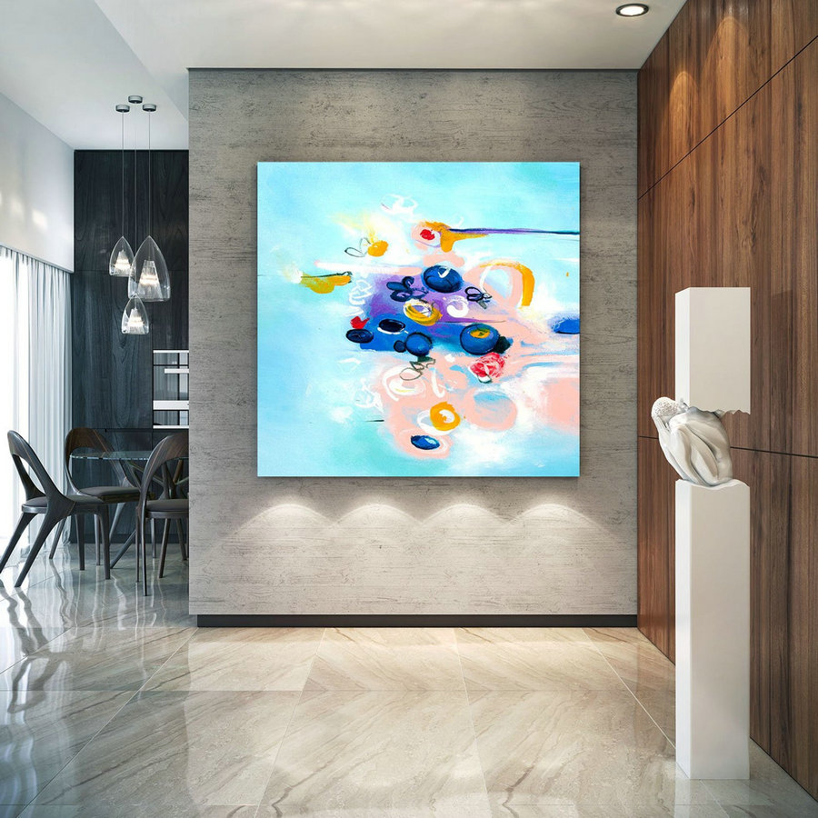 Extra Large Wall Art Original Art Bright Abstract Original Painting On Canvas Extra Large Artwork Contemporary Art Modern Home Decor lac660
