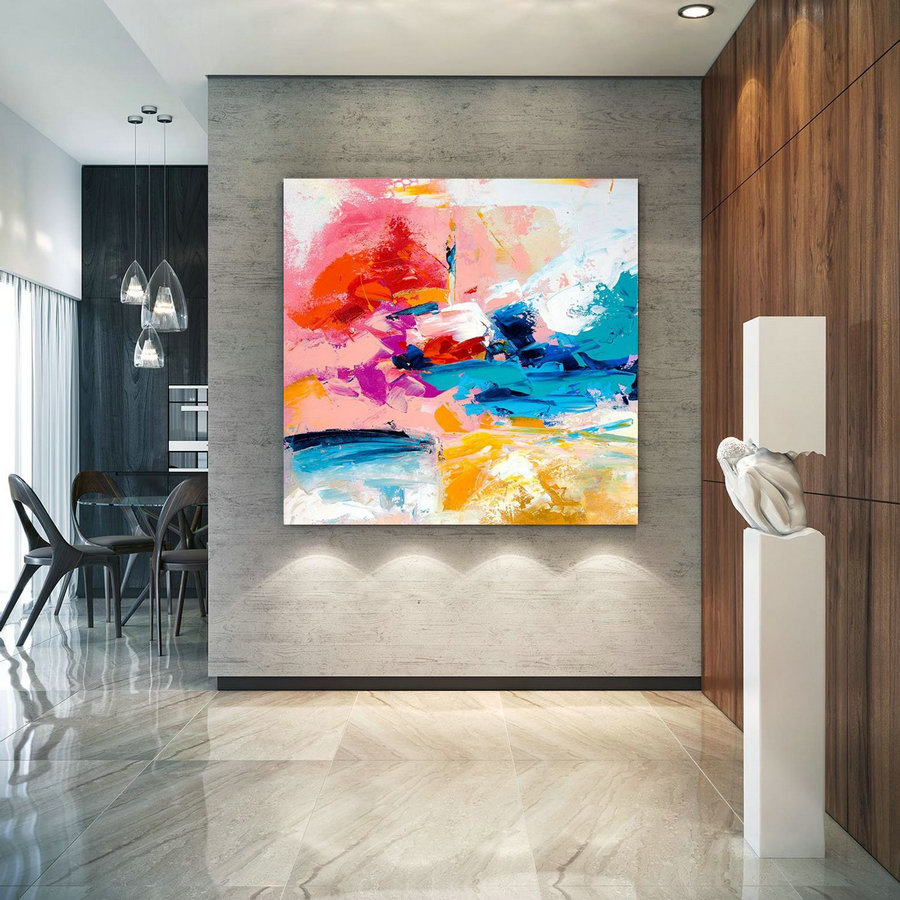 Extra Large Wall Art on Canvas, Original Abstract Paintings , Contemporary Art, Mdoern Living Room Decor ,Office Oversize Artworks laC666