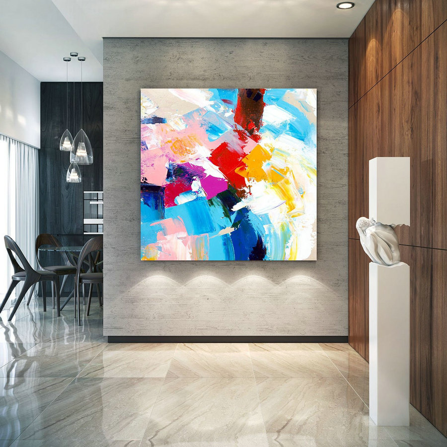 Extra Large Wall Art on Canvas, Original Abstract Paintings , Contemporary Art, Mdoern Living Room Decor ,Office Oversize Artworks laC633