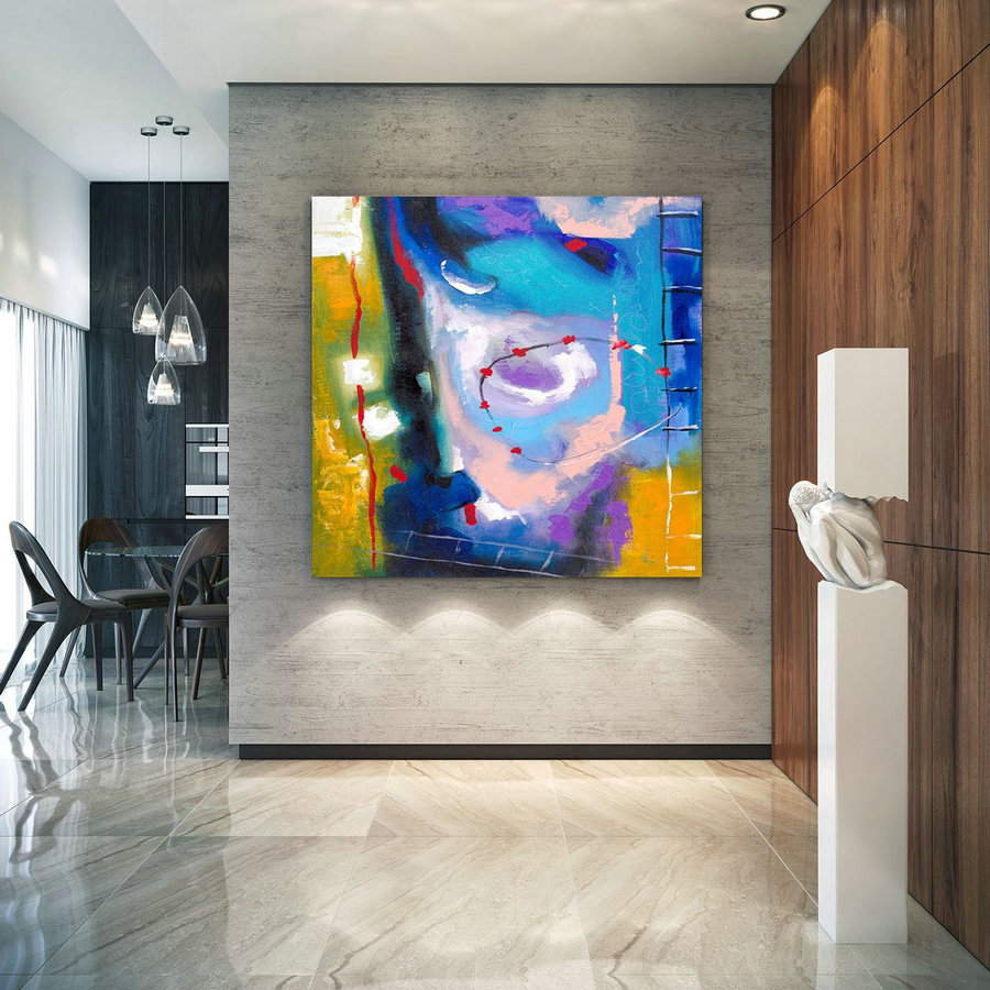Extra Large Wall Art Original Art Bright Abstract Original Painting On Canvas Extra Large Artwork Contemporary Art Modern Home Decor lac643