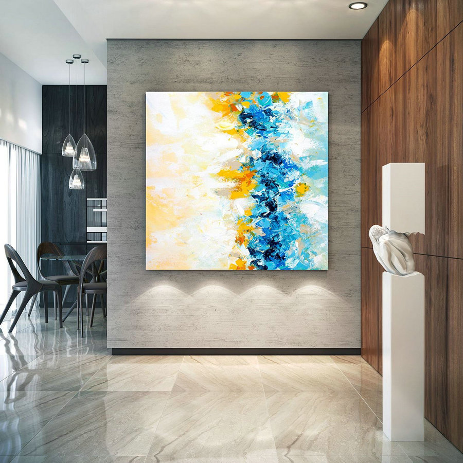 Extra Large Wall Art on Canvas, Original Abstract Paintings , Contemporary Art, Mdoern Living Room Decor ,Office Oversize Artworks lac638