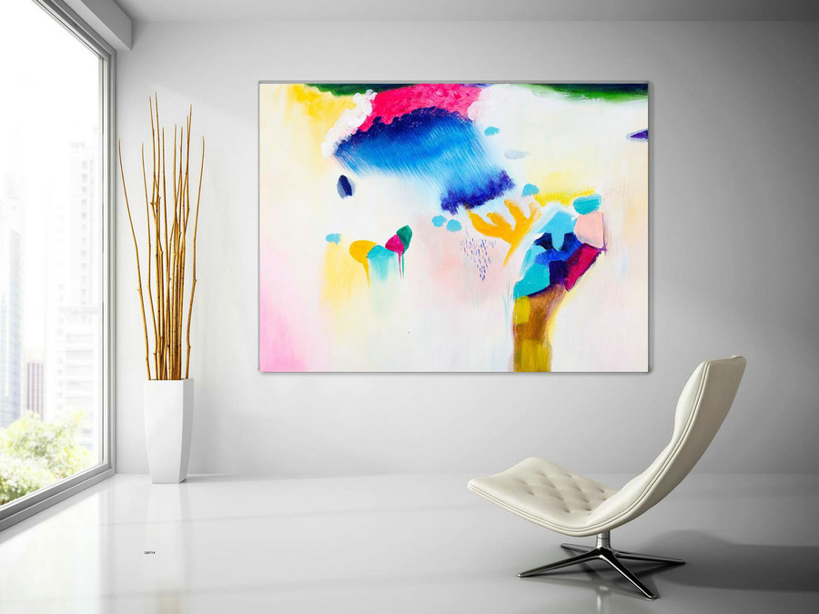 Extra Large Wall Art Original Handpainted Contemporary XL Abstract Painting Horizontal Vertical Huge Size Art Bright and Colorful lac714