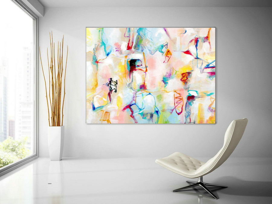 Extra Large Wall Art Original Painting on Canvas Contemporary Wallart Modern Abstract Living Room Wall ArtColorful Abstract Painting laC636