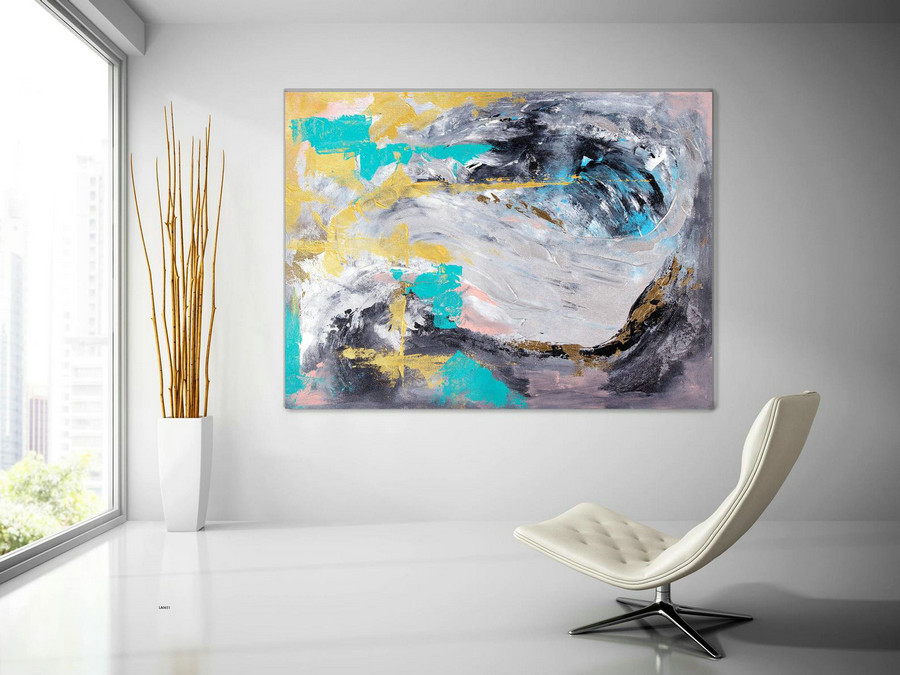 Extra Large Wall Art Original Painting on Canvas Contemporary Wallart Modern Abstract Living Room Wall ArtColorful Abstract Painting laC651