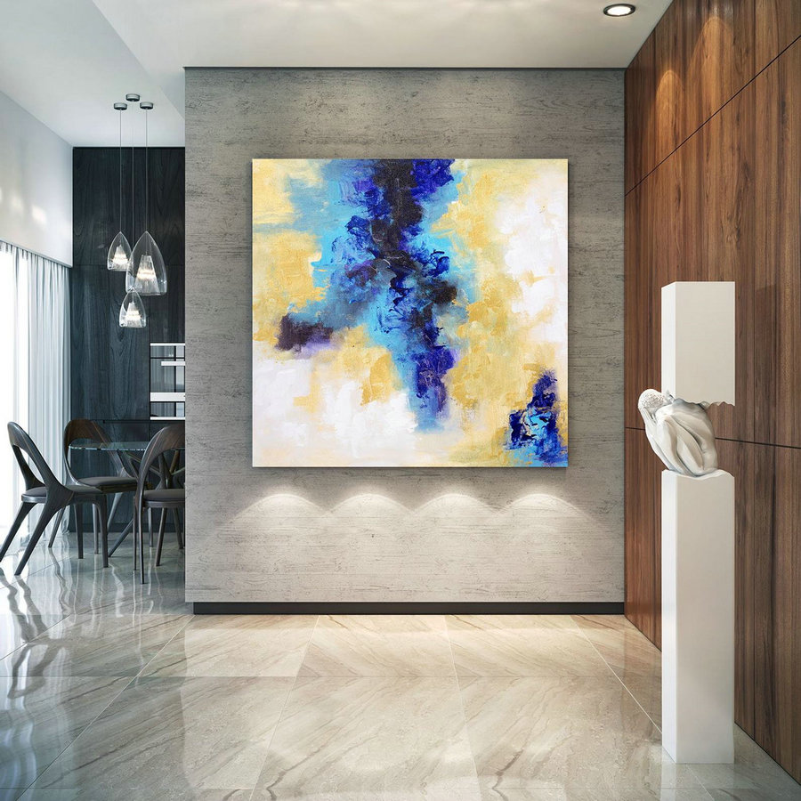 Extra Large Wall Art Original Art Bright Abstract Original Painting On Canvas Extra Large Artwork Contemporary Art Modern Home Decor lac646