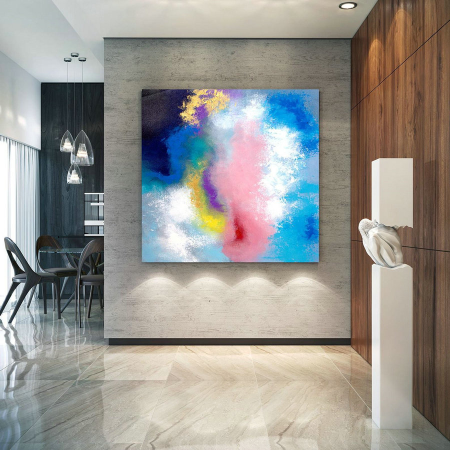 Extra Large Wall Art on Canvas, Original Abstract Paintings , Contemporary Art, Mdoern Living Room Decor ,Office Oversize Artworks lac642