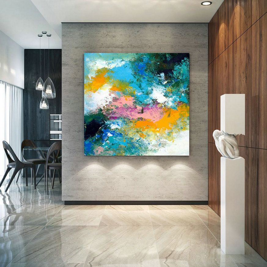 Extra Large Wall Art Original Art Bright Abstract Original Painting On Canvas Extra Large Artwork Contemporary Art Modern Home Decor lac668