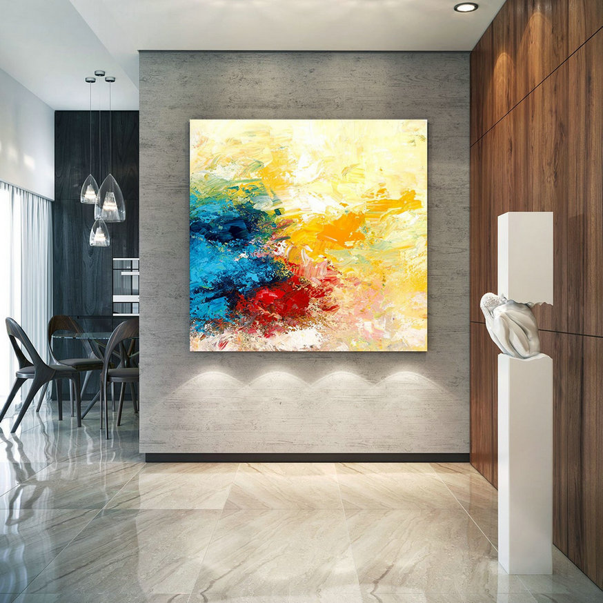 Extra Large Wall Art Original Art Bright Abstract Original Painting On Canvas Extra Large Artwork Contemporary Art Modern Home Decor lac670