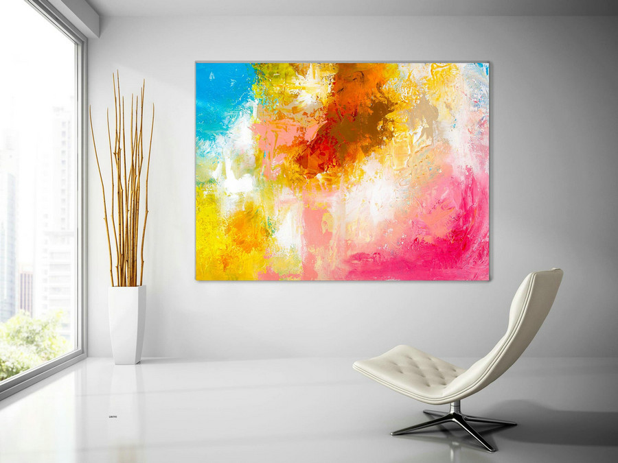 Extra Large Wall Art Original Handpainted Contemporary XL Abstract Painting Horizontal Vertical Huge Size Art Bright and Colorful lac705