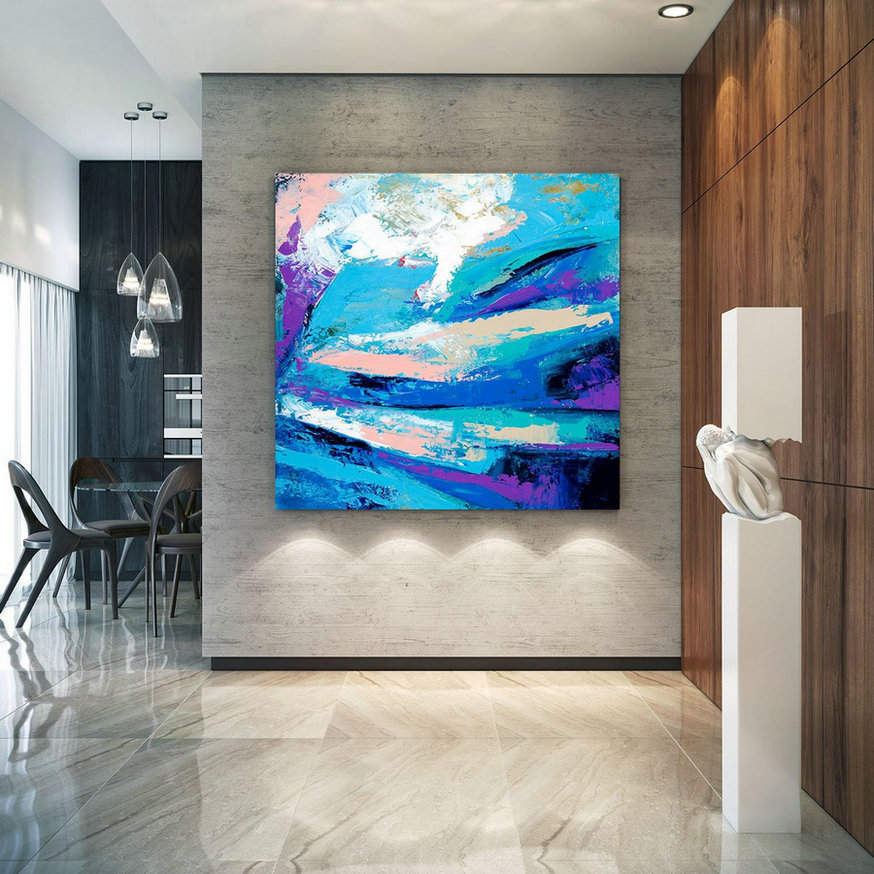 Extra Large Wall Art Original Art Bright Abstract Original Painting On Canvas Extra Large Artwork Contemporary Art Modern Home Decor lac658