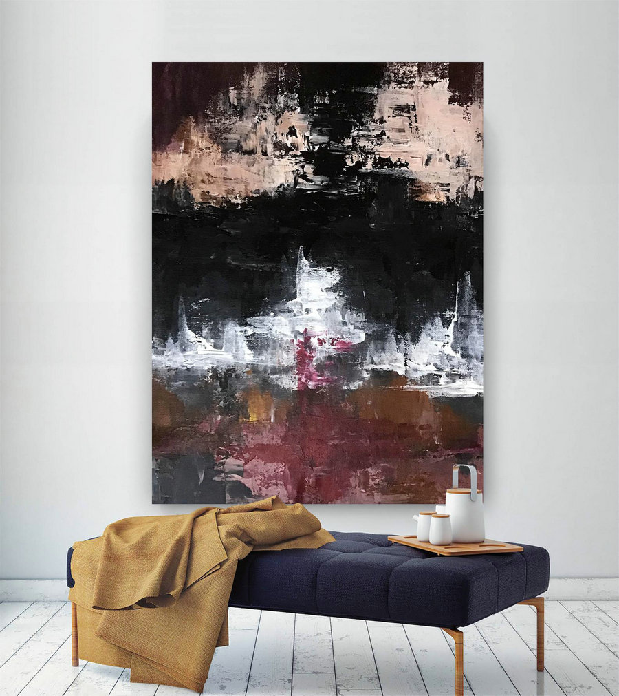 Large Painting on Canvas,Original Painting on Canvas,art paintings,xl abstract painting,large art on canvas,abstract texture art DIc064