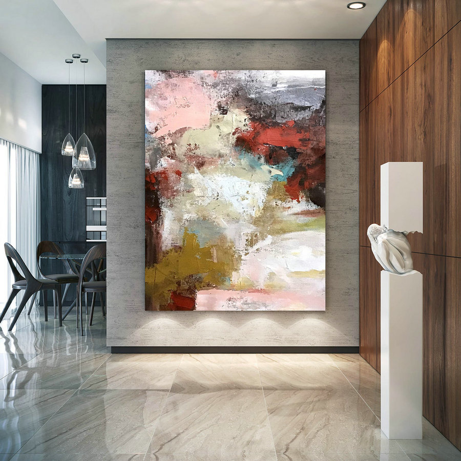 Large Modern Wall Art Painting,Large Abstract wall art,unique painting art,large abstract art,canvas wall art DIc058