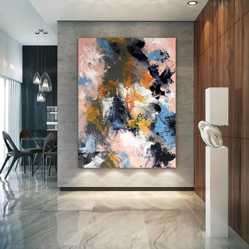 Original Abstract Canvas Art,Large Abstract Canvas Art,oil abstract canvas,home decor modern,original abstract DIc044