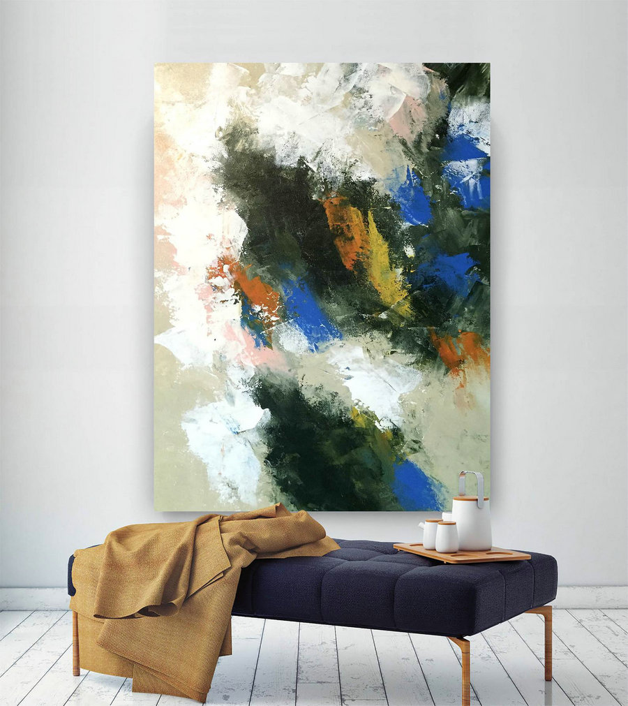 Large Abstract Painting,Modern abstract painting,painting wall art,bedroom wall art,abstract decor,acrylic textured art DIc042
