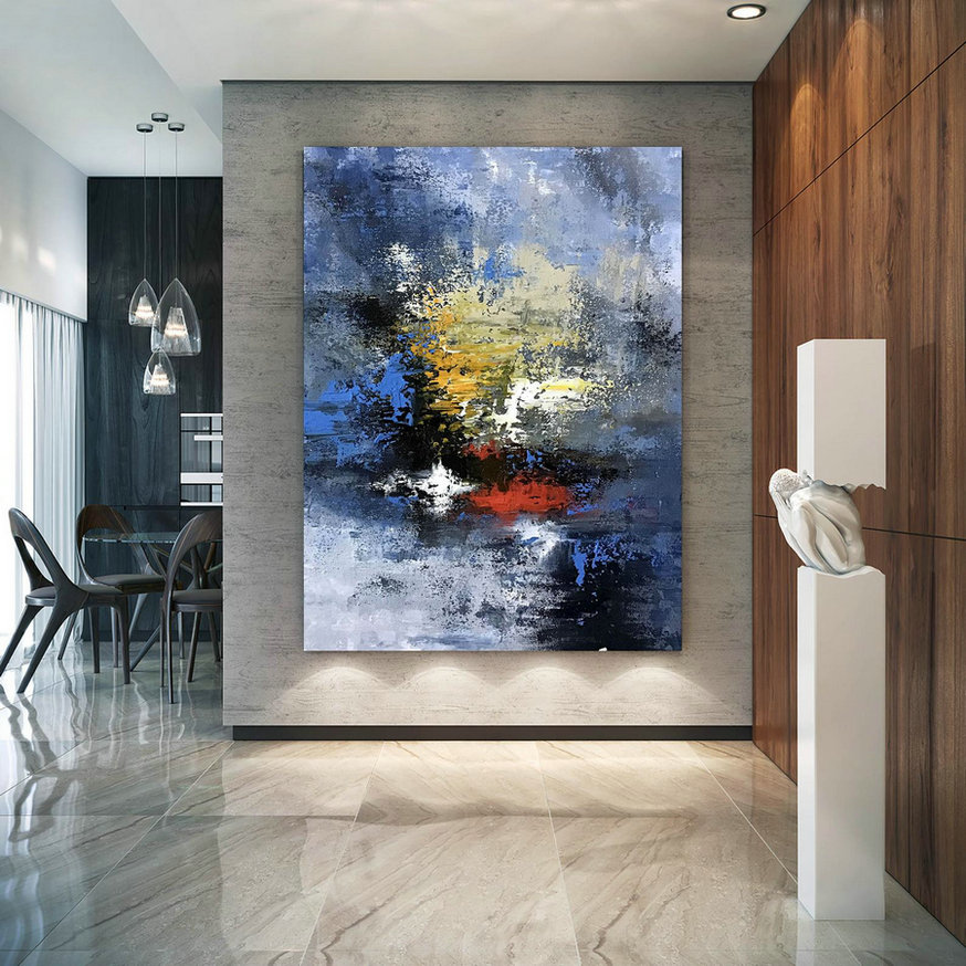 Large Abstract Painting,Modern abstract painting,square painting,home decor modern,modern abstract,textured wall decor DIc040