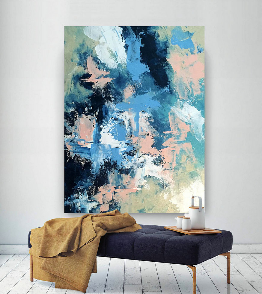Large Painting on Canvas,Original Painting on Canvas,painting colorful,abstract painting,huge canvas art,acrylic textured art DIc046