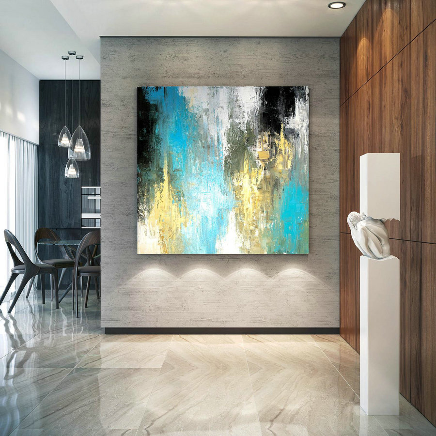 Large Modern Wall Art Painting Large Abstract Painting On Canvas Painting Colorful Modern Oil Canvas Bathroom Wall Art Dic022
