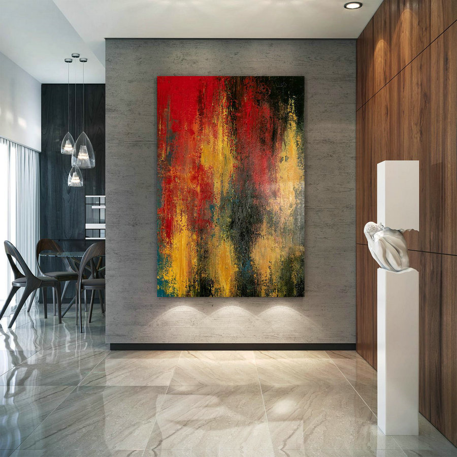 Large Abstract Painting,square painting,oil large painting,original abstract,modern textured DIc021