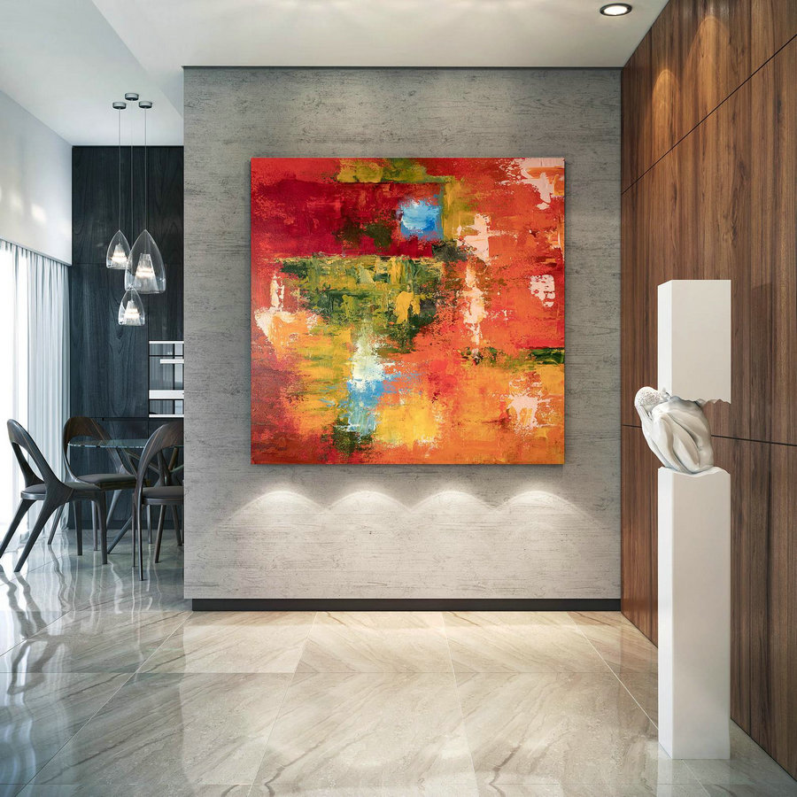 Large Abstract Painting,Modern abstract painting,texture painting,modern oil canvas,colorful abstract,textured paintings DIc003