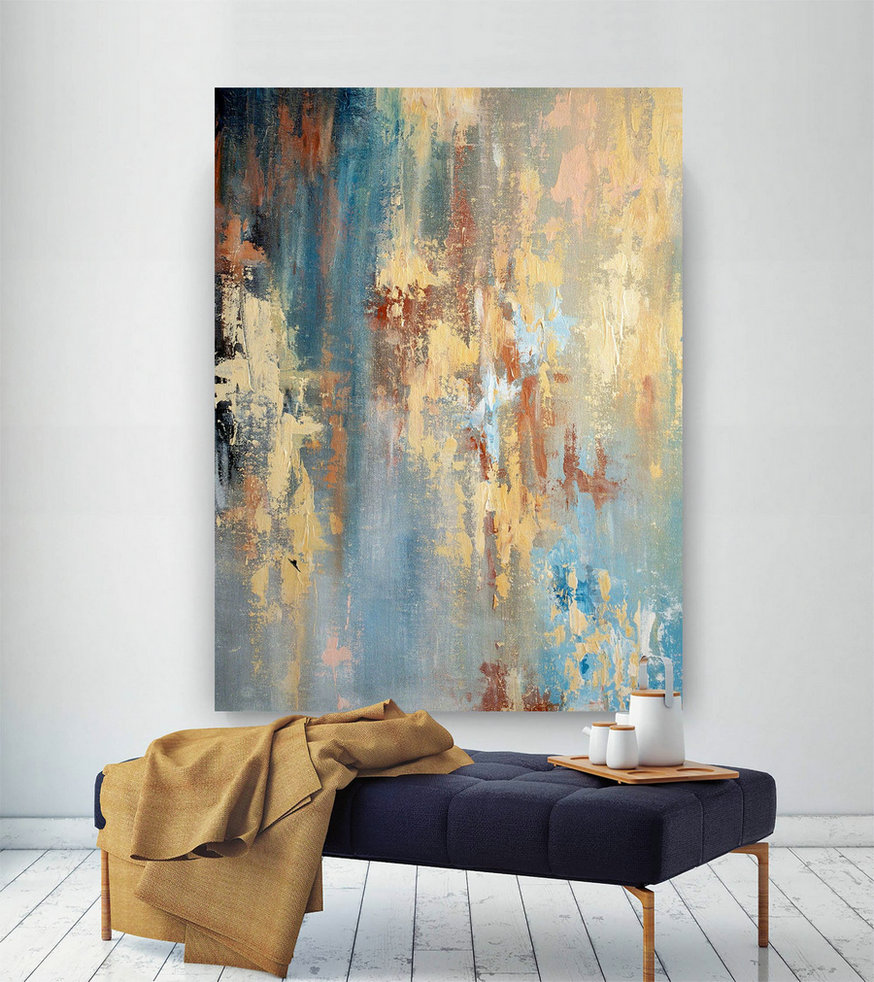 Large Modern Wall Art Painting,Large Abstract wall art,painting wall art,abstract decor,home decor wall art,textures painting DIc002