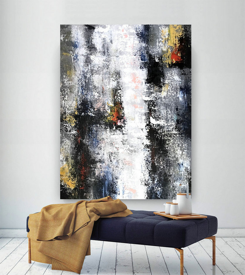 Large Abstract Painting,Large Abstract Artwork,large office art,modern acrylic art,modern abstract,modern textured art BNc077