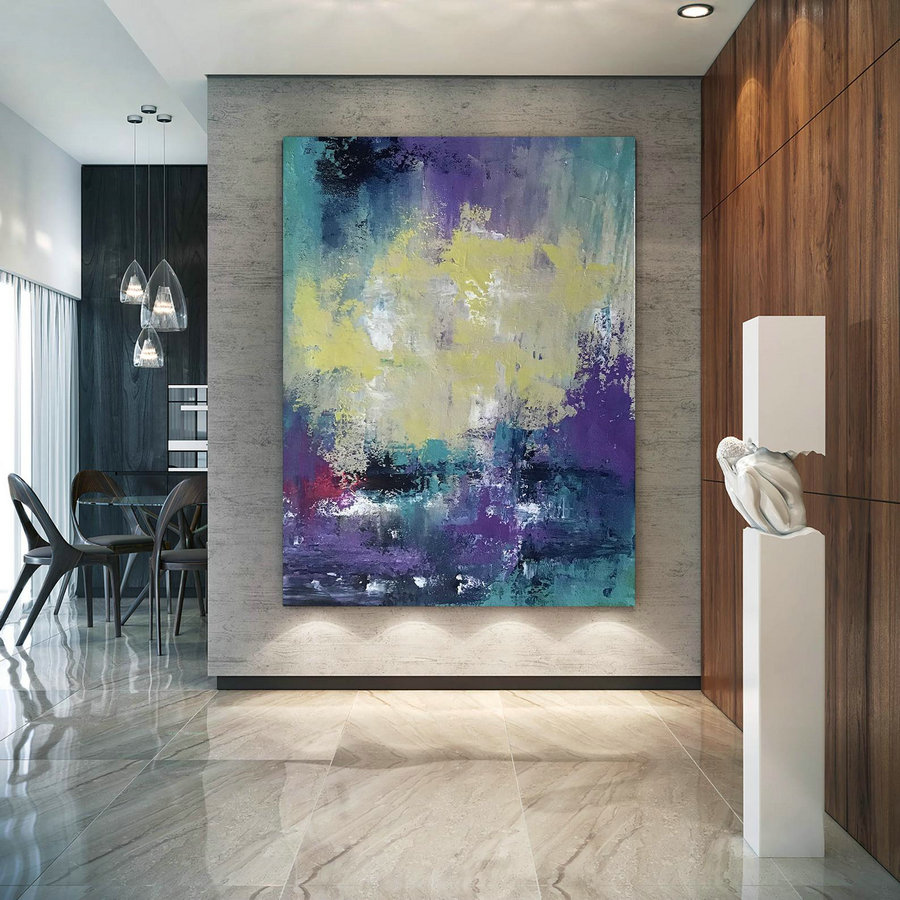Large Abstract Painting,Modern abstract painting,painting colorful,palette knife canvas,original abstract,textured painting DIc036