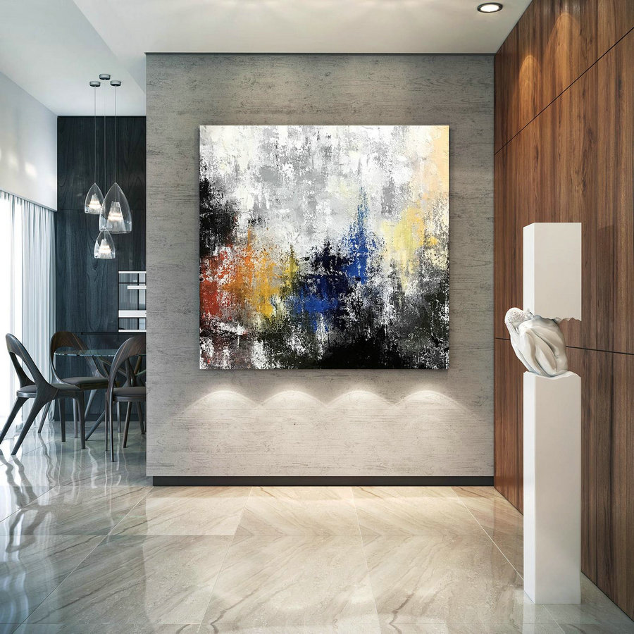 Large Abstract Painting,Modern abstract painting,original painting,large canvas art,xl abstract painting,art with texture DIc035