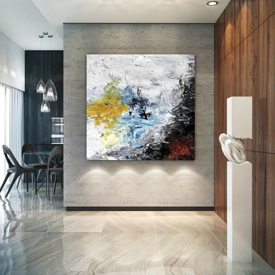 Large Abstract Painting on Canvas,Large Painting on Canvas,acrylics paintings,large art on canvas,industrial decor DIc031