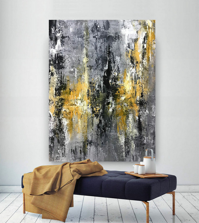 Large Abstract Painting,Large Abstract Painting on Canvas,texture art painting,acrylic abstract,office decor set D2c033