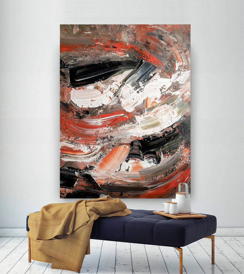 Large Abstract Painting,Modern abstract painting,painting home decor,home and decor,colorful abstract,acrylic textured art DIc018