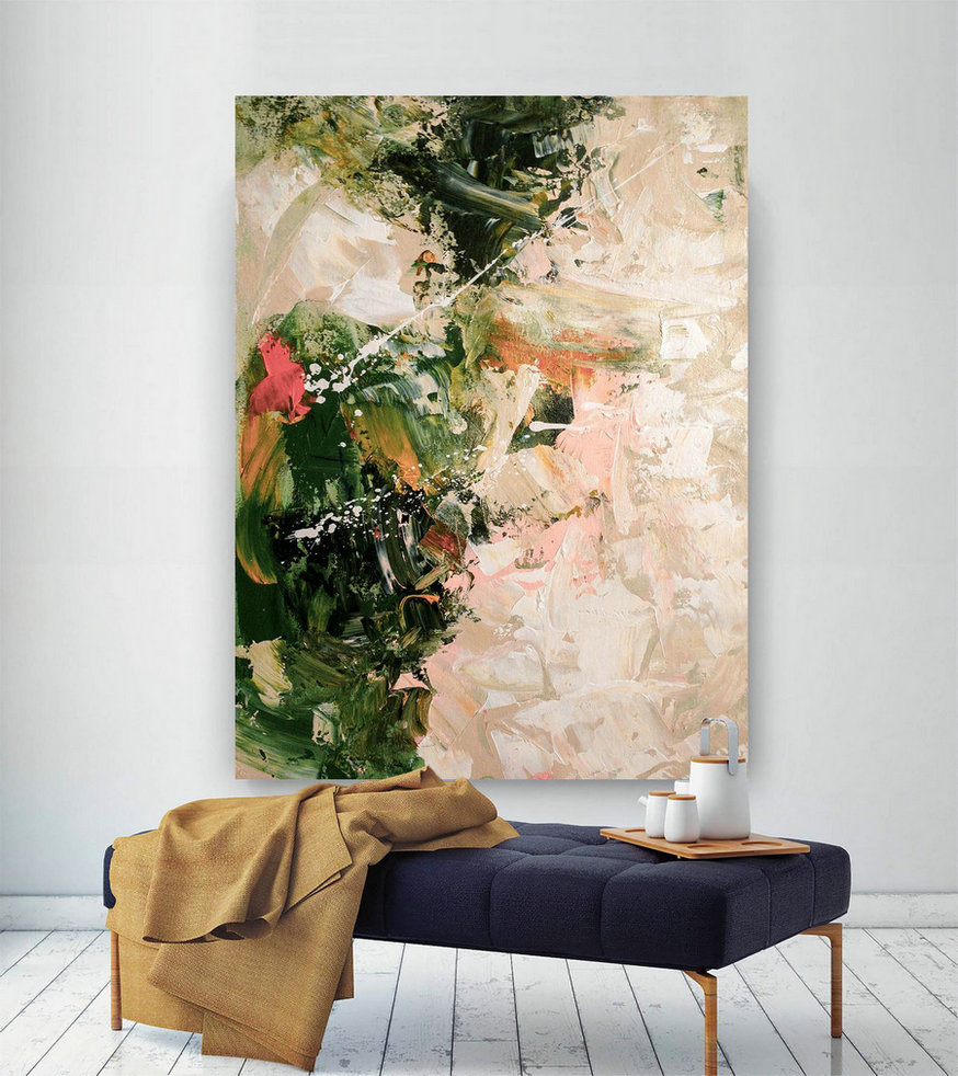 Large Painting on Canvas,Extra Large Painting on Canvas,large art on canvas,square painting,large modern canvas DIc017