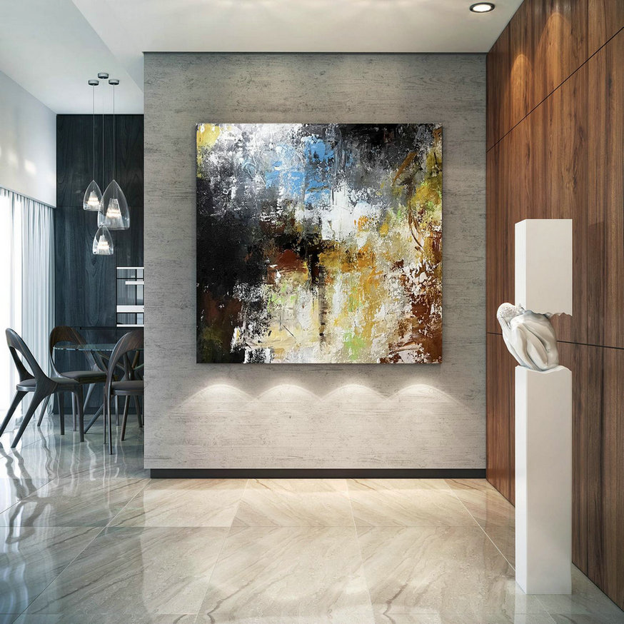 Large Abstract Painting,texture painting,large office art,acrylic abstract,large textured art BNc090