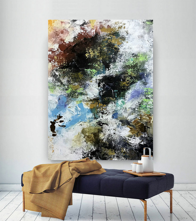 Large Abstract Painting,Modern abstract painting,acrylics paintings,home decor wall,abstract painting,texture wall art BNc101